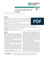 A Case of False Mother Included With 46 Autosomal Markers