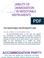 Liability of Accommodation Party in Negotiable Instruments