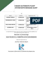 GSM Based Automatic Plant Irrigation Using Arduino