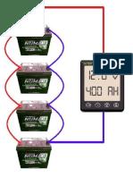 Modelo Circuito baterias em paralelo 12 volts
