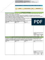 Ficha 1 de Registro de Observación Del Desarrollo y Aprendizaje de Los Niños y Niñas de 3 AÑOS
