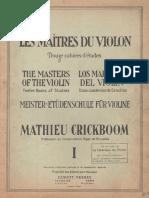 Crickboom Les Maitres Du Violon 1 Score