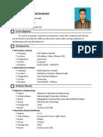CV of Md. Omar Faruk Chowdhury 1