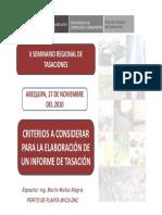Criterios a Considerar Para La Elaboración de Un Informe de Tasación