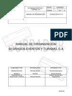 Manual de Organizacion- Eventos y Turismo 50 Grados C.A.