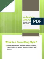A Guide to APA Citation
