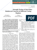 Compressive Strength Testing of Steel Fiber Reinforced Concrete in Differen