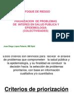 Criterios de Priorización de Probalemas Epidemiológicos o de SP