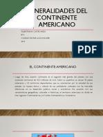 Generalidades Del Continente Americano