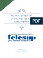 Manual Conexión Dreamweaver Con Phpmyadmin