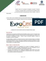 0 Convocatoria Yucatán ExpoCiencias 2018 FINAL