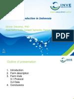Semi-biofloc Production in Indonesia