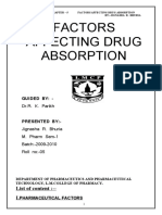 1.Factor for Drug Absorption