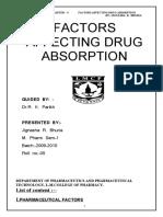 1.Factor for Drug Absorption