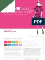 Pantone Colors SPRING 2011