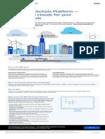The IBM Blockchain Platform Multi-Cloud Infographic