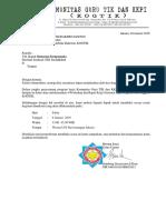 Surat Permohonan Buka Keg