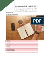 Los 8 mejores programas PDF gratis de 2019