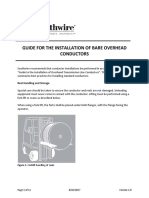 P for the Installation of Bare Overhead Conductors