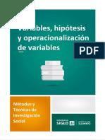 Variables, Hipótesis y Operacionalización de Variables