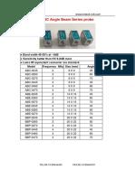 TMTeck Ultrasonic Probe Catalogue