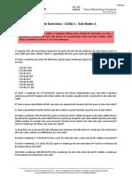 CCNA 1 – Lista 1 – Sub-redes