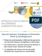 Evaluation Nexus TUN Démarrage Introduction 180703