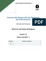 MCVS-O1-102 Vision Del Negocio