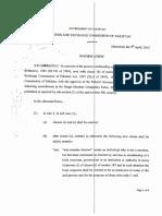 Amendments in the Single Member Companies Rules 2003
