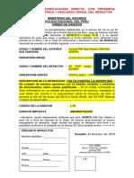 Modelo 1.- Orden de Sancion Constatacion Direta - Con Descargo Verbal