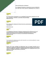 Autoevaluacion de Educacion a Distancia Ejercc. 1