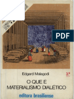 O Que é Materialismo Dialético - Edgard Malagodi