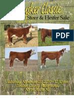 Cornhusker Classic Show Steer & Heifer Sale Catalog 2010