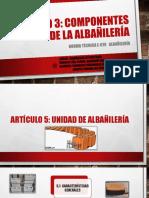 Exposicion - Componentes de La Albañileria
