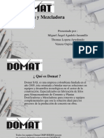 Domat Dosificadora y Mezcladora 2019