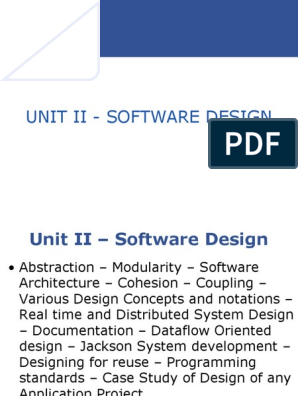 Unit Ii Software Design Ppt Software Architecture Documentation