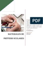 Materiales de Protesis Oculares