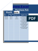 Purchase Return Book With Tax