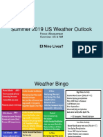 Summer 2019 US Weather Outlook