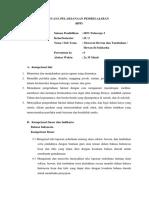 RPP Kelas 2 Tema 7 Sub Tema 1 Pembelajar