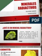 Minerales radioctivos