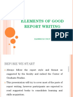 r Report Writing