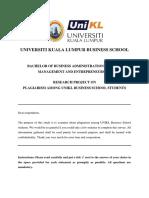 Ga - Plagiarism Questionnaire-1