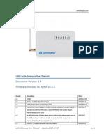 LG01 LoRa Gateway User Manual
