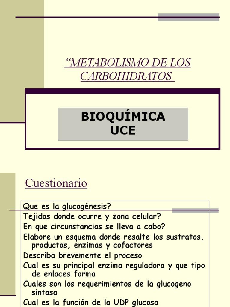 Bioquimica: Metabolismo Del Glucogeno