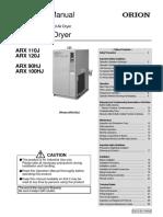 Orion Air Dryer - Instruction Mannual AR