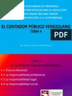 Tema 4 El Contador Publico Venezolano Unidad II