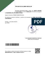 Certificado Alumno Regular Diego