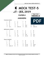 Mock Test 5 Paper 2 Set d Answer Key