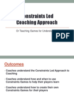 Constraints Led Coaching Approach